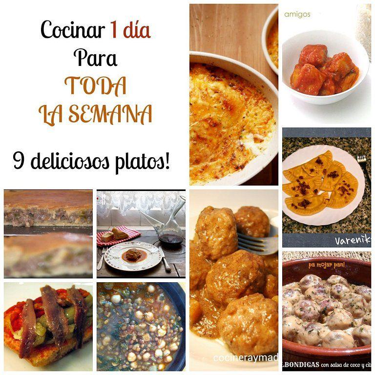 cocina en un d a 9 platos para el resto de la semana