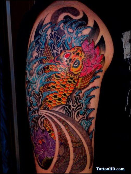 Japanese Yakuza Yakuza Japonesa Fotos Tattoo Tattoodesignpicture Net Tattoo Koi Dragon Ocean Color Tattoo Tattoos Y Coy Fish Tattoos