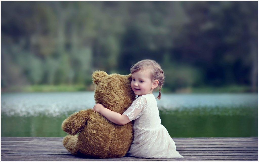 Alone Child Doll Forest Girl Kids Littel Lonely Nature Princess Red Sad Way Teddy Bear Friendship Lake