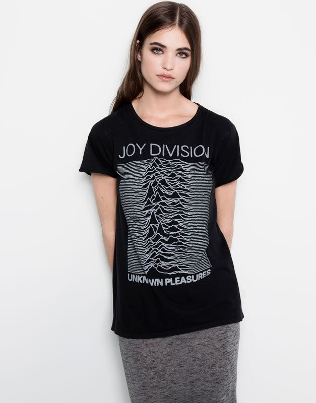 ac6100353a963 Pull Bear - woman - t-shirts and tops - joy division top - faded black -  05245381-I2014