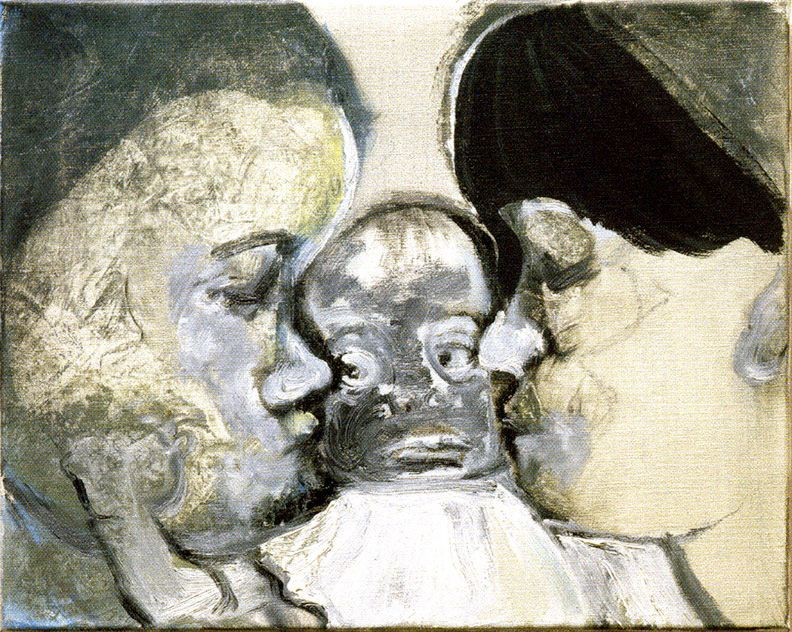Marlene Dumas, Double Bind, 1993, oil on canvas