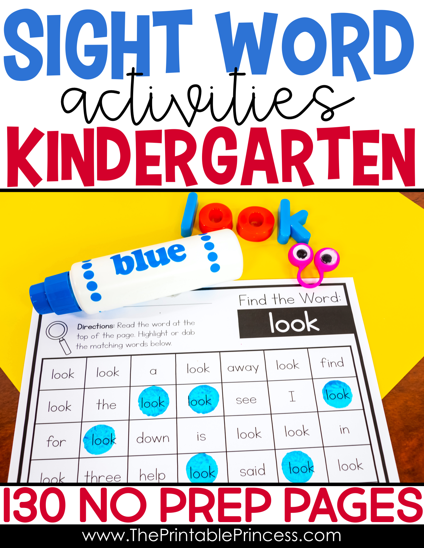 Editable Sight Word Worksheets Bundle Dolch Sight Words