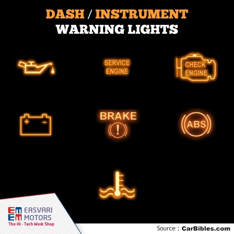 DASH / INSTRUMENT WARNING LIGHTS  THE CHECK ENGINE LIGHT. Every new car now comes with OBD-II - On Board Diagnostics 2. This is a fault-registering system connected to sensors all over the car, engine, fuel and emissions system. When the check engine light comes on, it can mean many things.  http://www.carbibles.com/maintenancetips.html