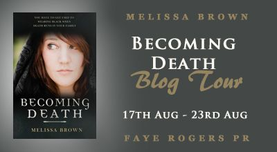Blog Tour: Becoming Death by Melissa Brown [Giveaway!]  Hi Guys! Today Im here to tell you about Becoming Death and my top five reasons why I think you should definitely read it!