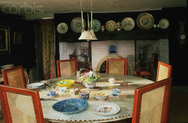 The Dining Room At Charleston Chairs Designed By Roger Fry For