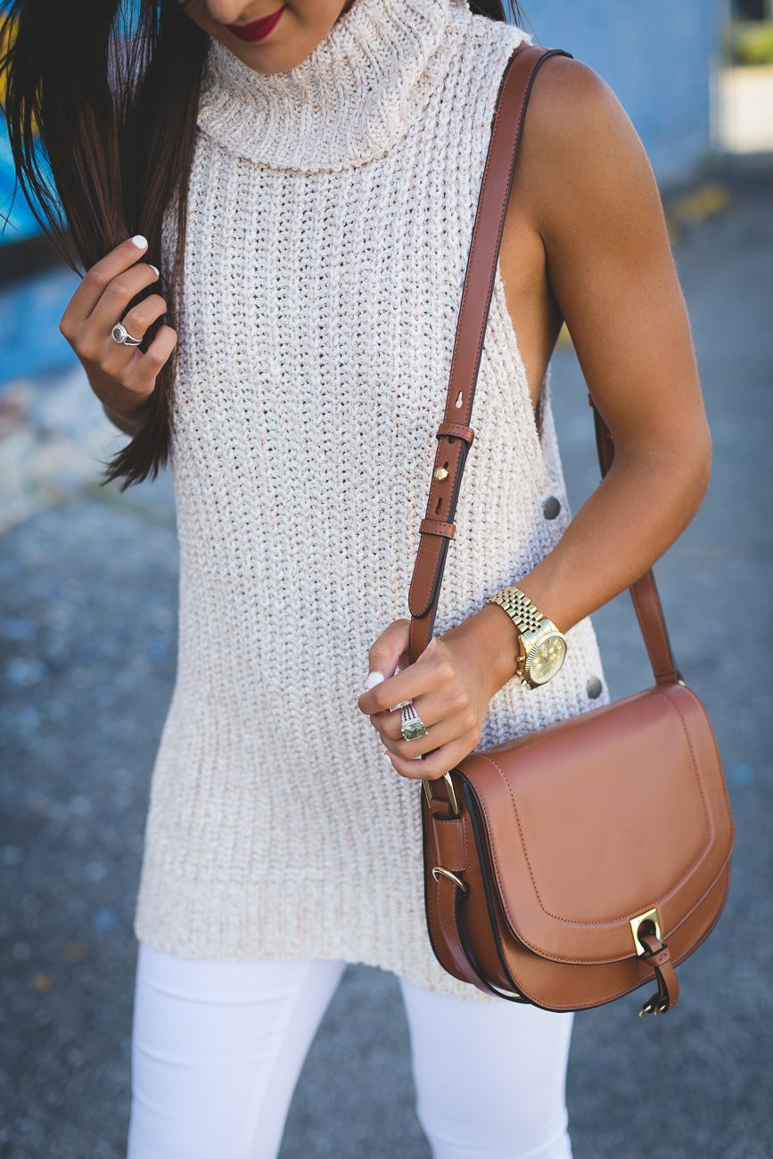 Sleeveless Cowl Neck Sweater | Fall booties, Dior sunglasses and ...