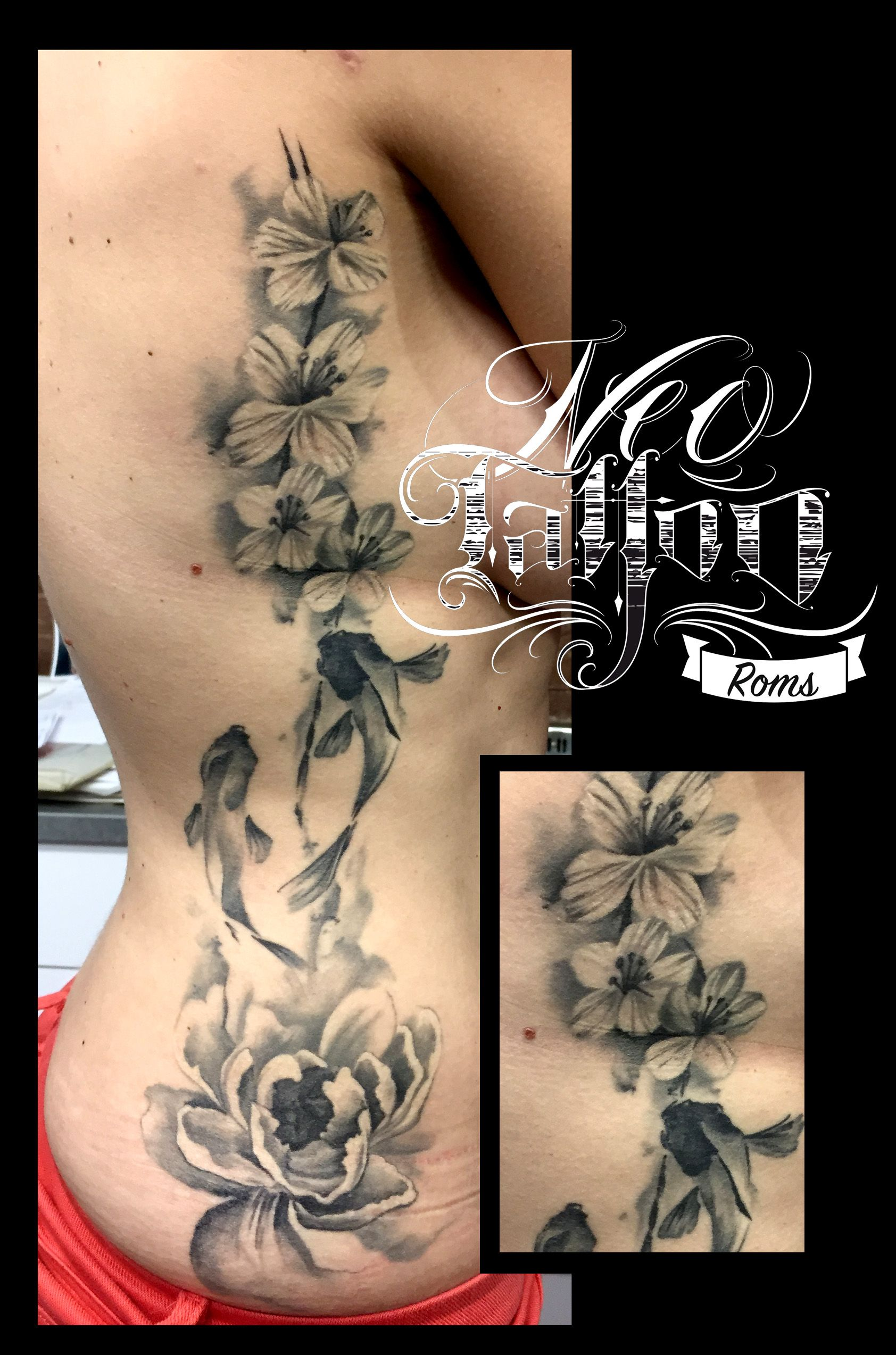 Tatouage Romain Neotattoo Fleuriste Tattoo Tatuaje Tattoo