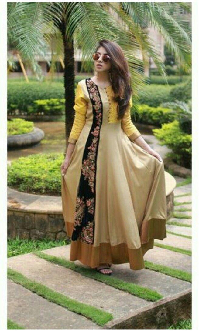 Pin by Divya Popat on Anarkali indian gown | Pinterest | Kurti ...
