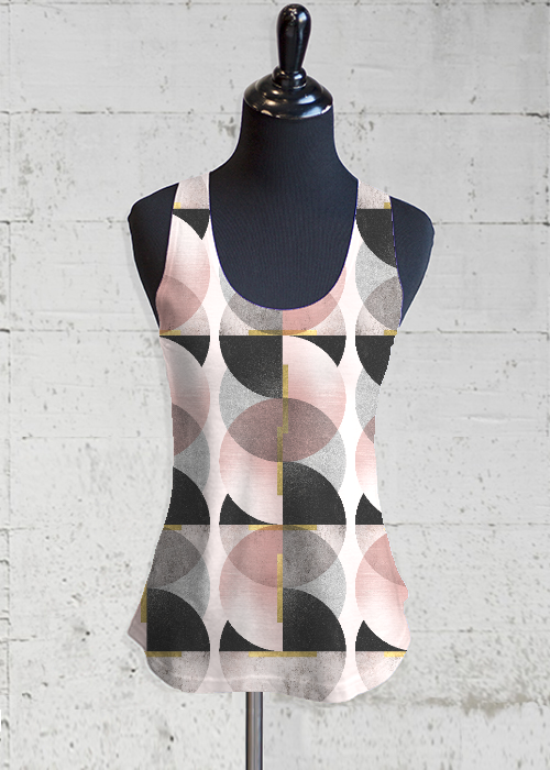 Printed Racerback Top - Blush II by VIDA VIDA Low Shipping Fee For Sale Outlet Buy Cheap Sale Best Place xXpdEr