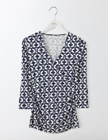 f0a7e0a7a04 #Boden Wrap Jersey Top Ivory Linked Floral Women Boden, #Flattery really  does get you everywhere. Our much-loved shape is back in the same fabulous  fit and ...