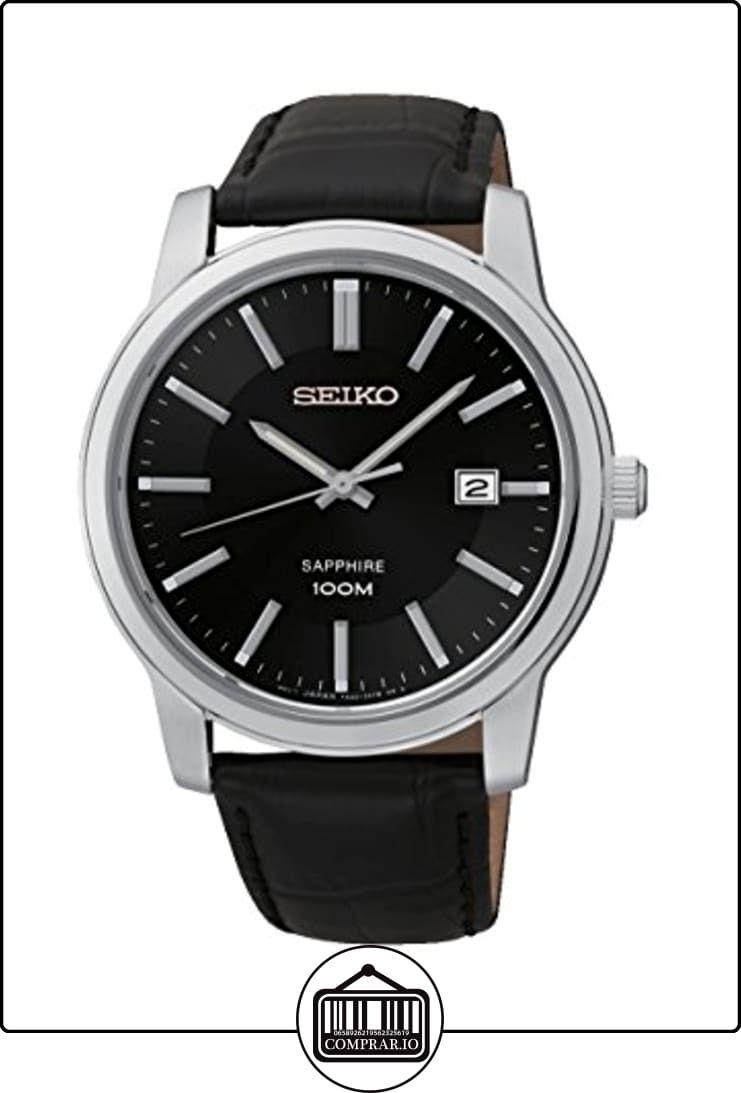 Seiko SGEH19P1 - Reloj de pulsera hombre, piel, color negro de  ✿ Relojes para hombre - (Gama media/alta) ✿