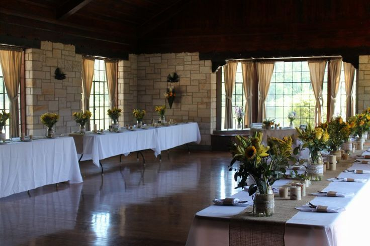 View Of Main Hall Set Up For Wedding Reception Raven Lodge Huntsville State Park