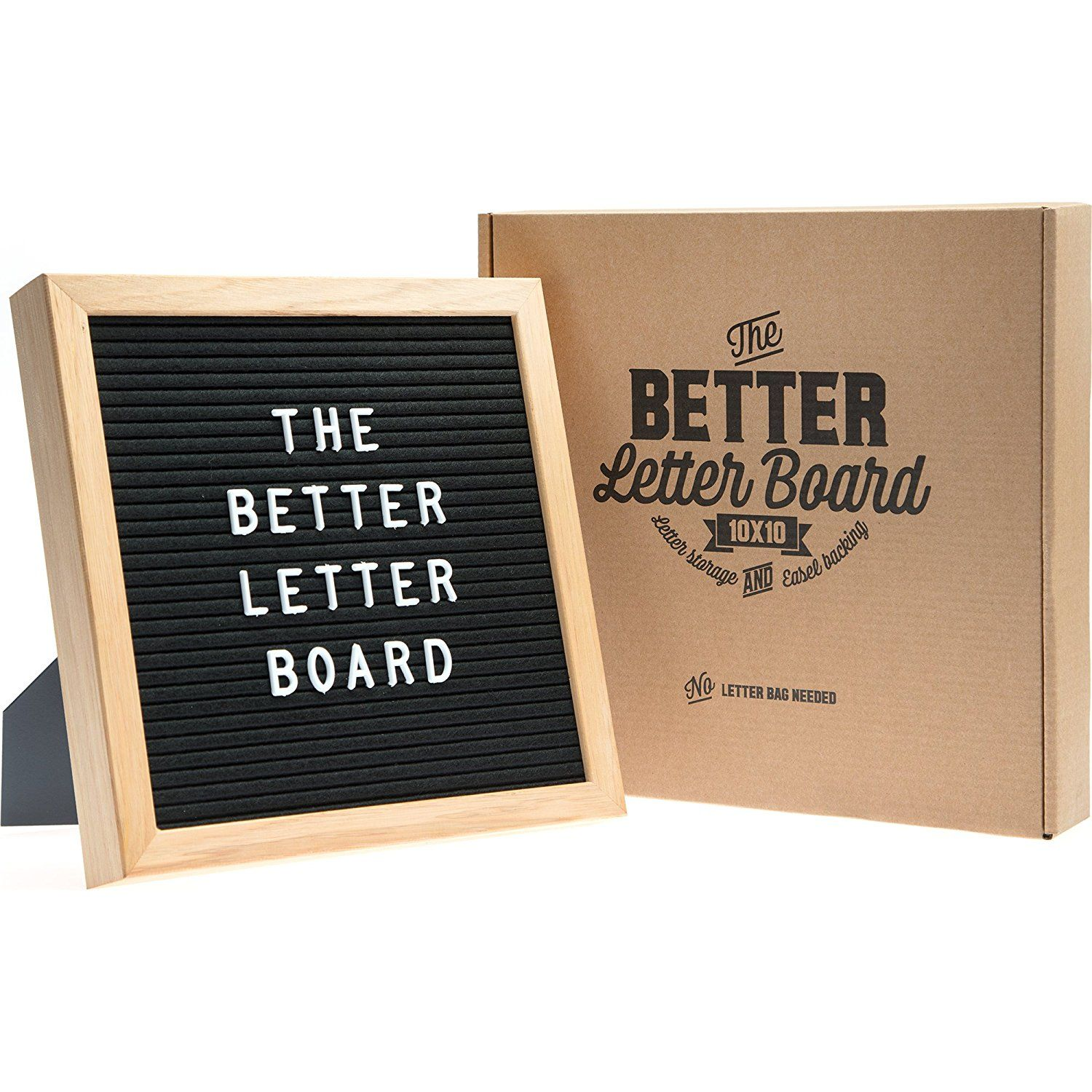 Amazon Com 10x10 Felt Letter Board With Letter Storage Easel