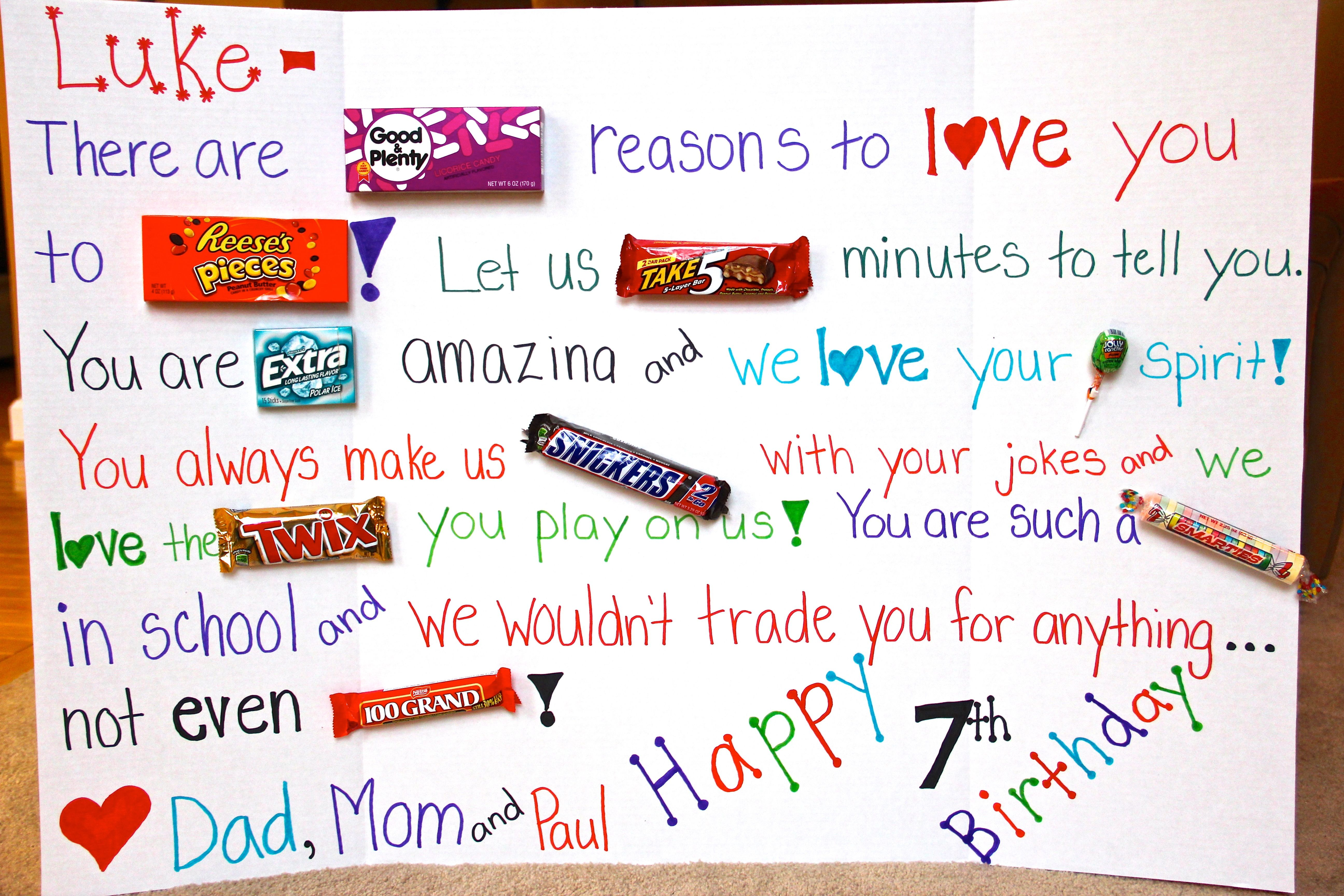 happy birthday candy poster for the kids birthday candy posters