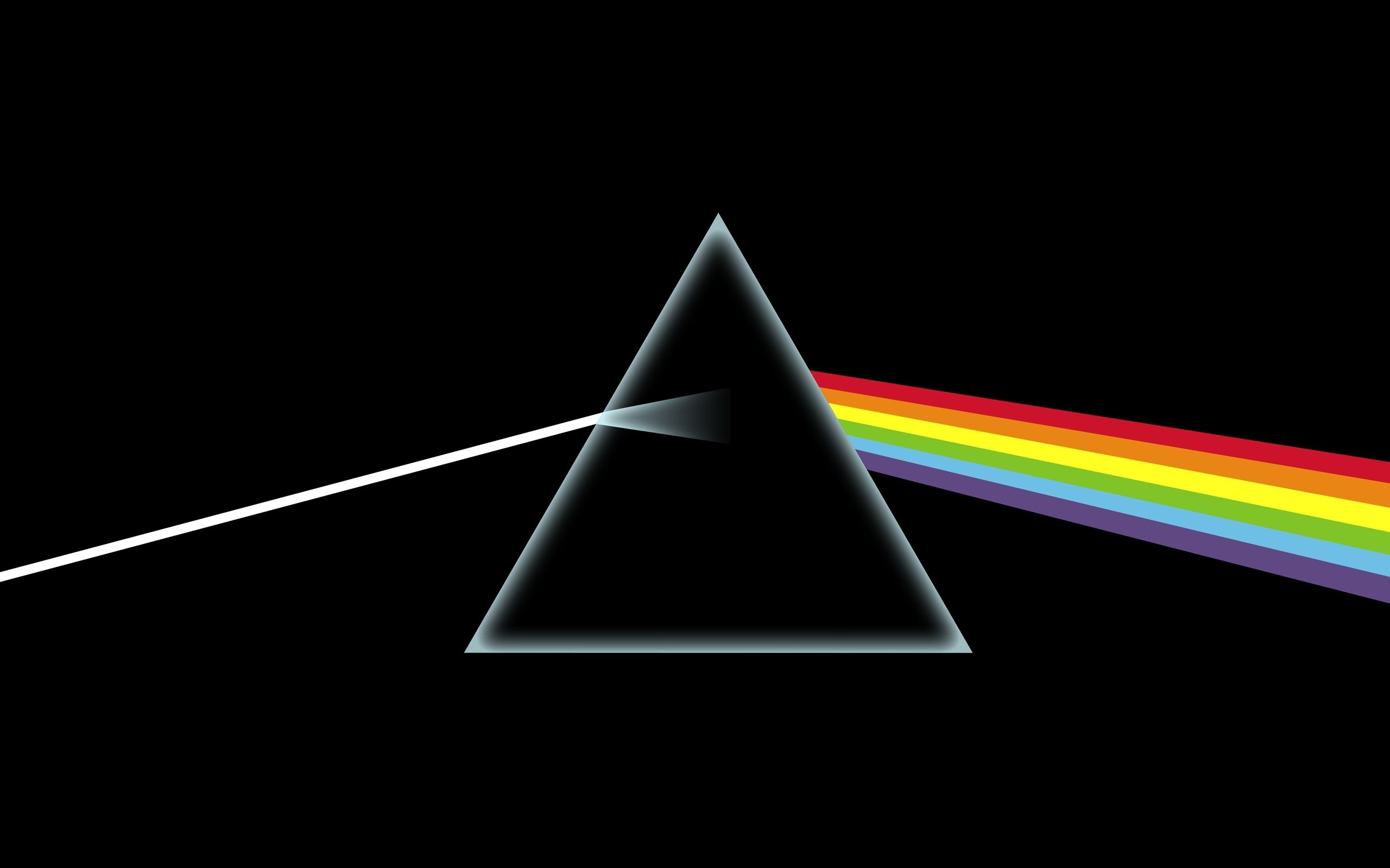 Minimalistic Pink Floyd Dark Side Of The Moon Band Triangle