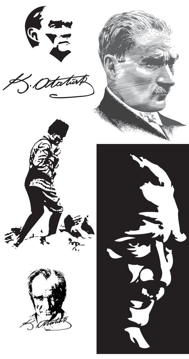 Mustafa Kemal Ataturk Silhouette 5 Eps File Free Vector