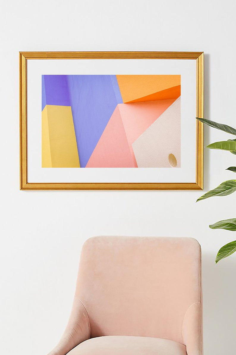 Colorful Wall Art Abstract Colorblock Printable Abstract Architecture Photography Bright Wall Decor Modern Art Download In 2020 Colorful Wall Art Pastel Wall Art Downloadable Art