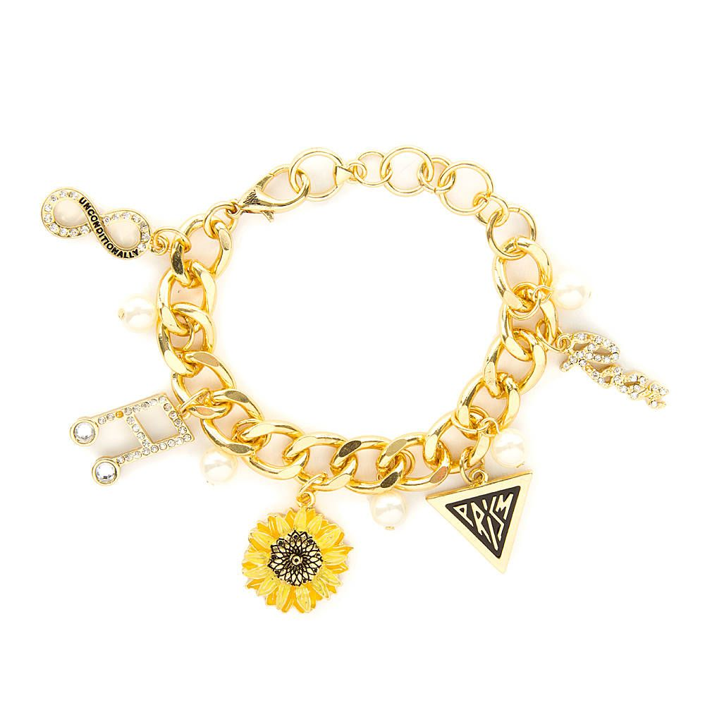 75ab6273f3d Katy Perry Gold PRISM Icons Charm Bracelet   Claire's   Katy Perry ...