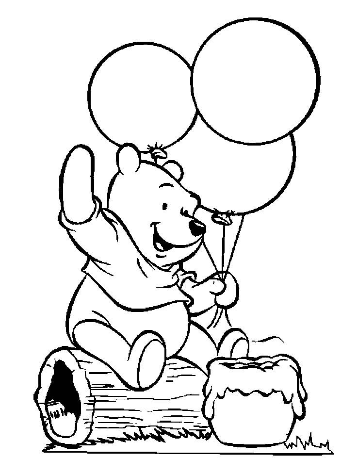 Printable Pooh Bear Coloring Pages