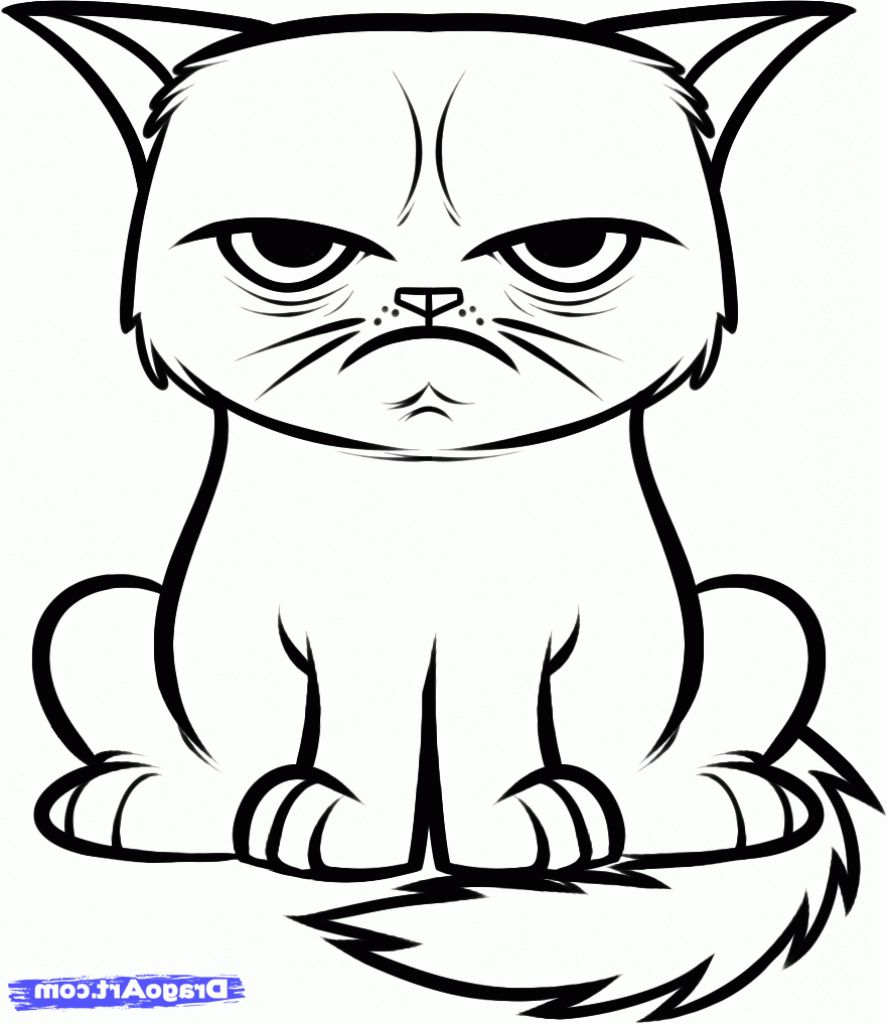 Image Result For Cats Drawings Easy Cat Coloring Book Cat Face