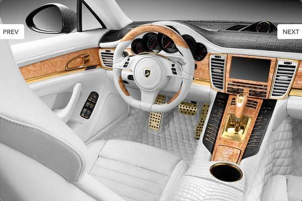 Crocodile Covered Interiors Best Luxury Cars Porsche Panamera Custom Car Interior