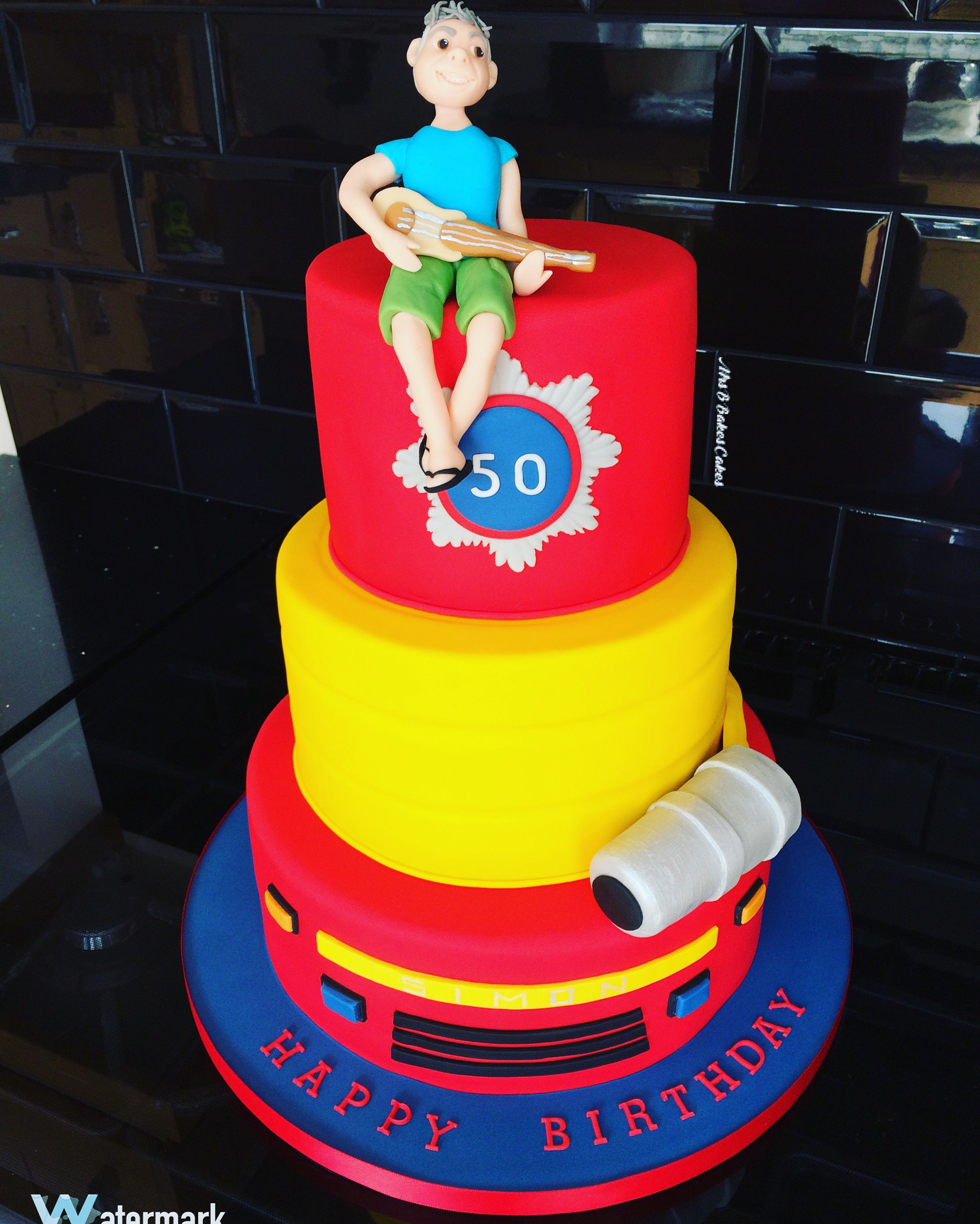 Fireman Birthday Cake For An Adult Entirely Handcrafted Entirely