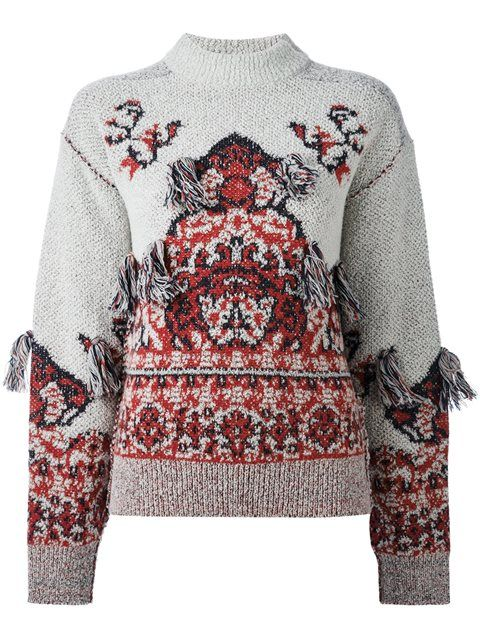 Wool Jacquard High Neck Sweater Toga Archives Outlet Top Quality 4jHxVK0