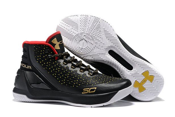 6d80401ed70 2017-2018 Sale UA Curry 3 Wholesale Under Armour Curry 3 Black Golden  Basketball Shoe for Sale