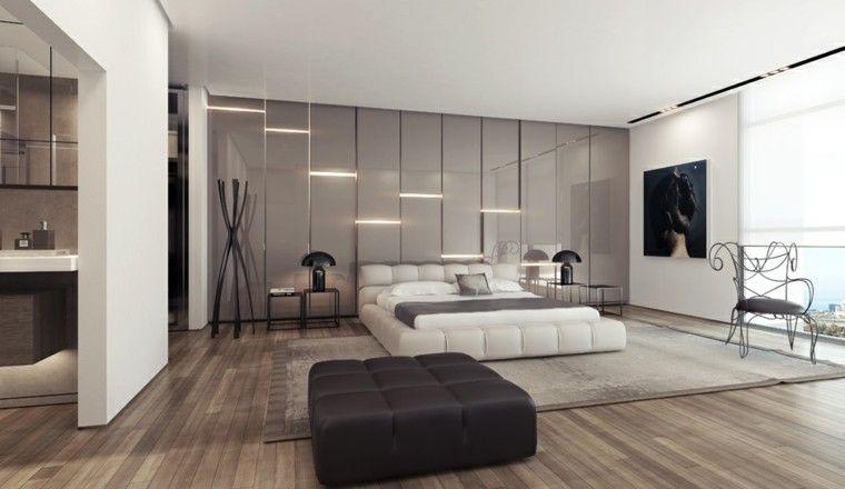 del hogar decoracin de interiores pared gris iluminacion led