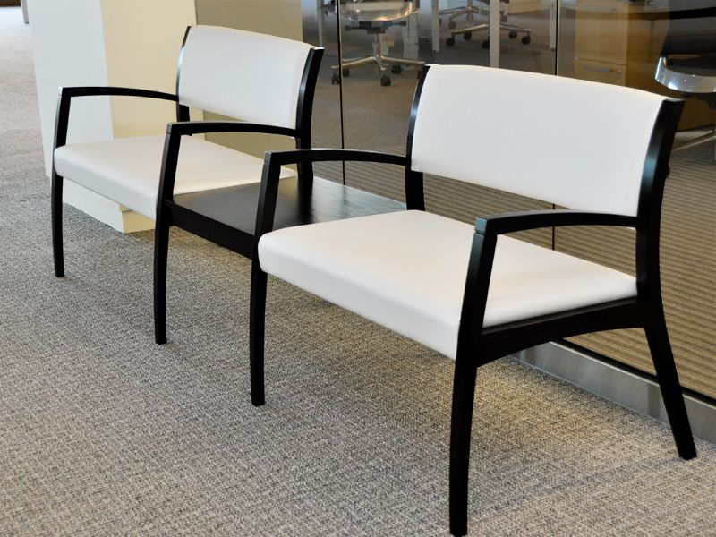 White Bariatric Chairs In Medical Office Waiting Room