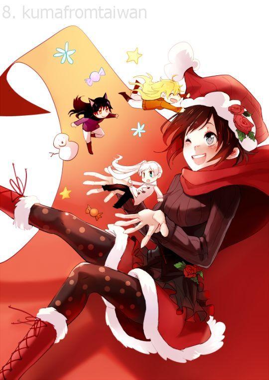 Rwby Christmas.Rwby Merry Christmas Rwby Rwby Characters Rwby Anime
