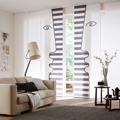 Flächenvorhänge Gardinen Bender Vorhang Pinterest - gardinen muster für wohnzimmer
