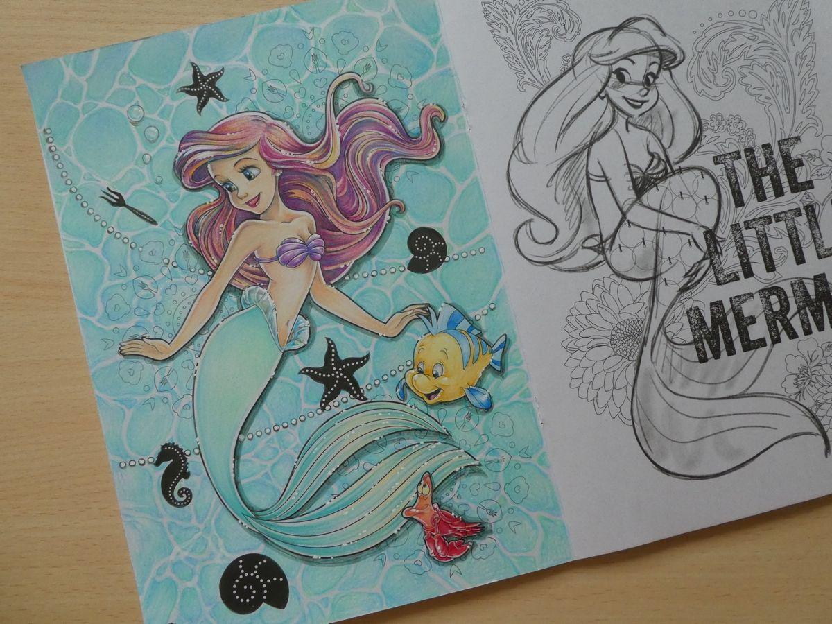 完成 色鉛筆でアリエルの塗り過程 メイキング 紹介です アートぬりえarielより 塗り絵日記 アリエル 塗り絵 大人の塗り絵 ディズニー 大人の塗り絵 色鉛筆