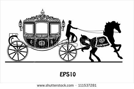 Carriage Silhouette Silhouette Horse Pattern Toys Logo
