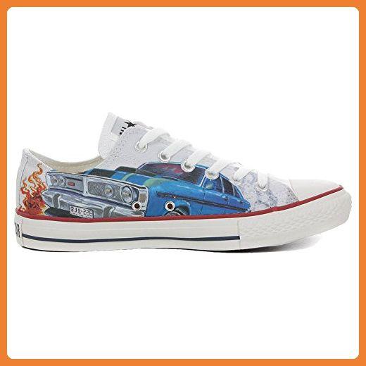 Converse All Star Low Customized personalisierte Schuhe (Handwerk Schuhe) Slim Chevrolet