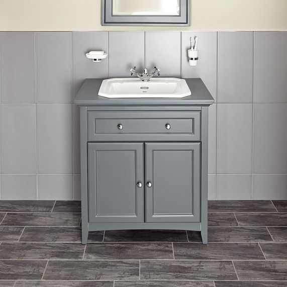 Savoy Charcoal Grey 790 Basin Unit - With 1 Tap Hole Basin