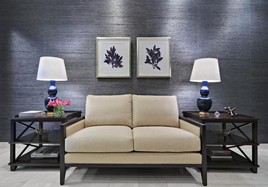 Law firm reception area designed by Christina Kim Interior Design