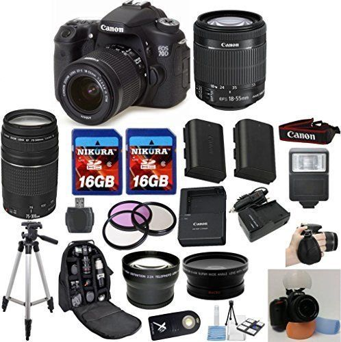 Canon EOS 70D Camera Body with Canon 18-55mm STM Standard Lens ...