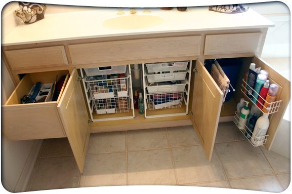 Under sink organizer bathroom if you don t have anywhere - Bathroom vanity under sink organizer ...