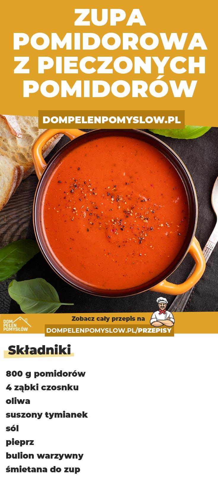 Zupa Pomidorowa Z Pieczonych Pomidorow Cooking Food Food And Drink