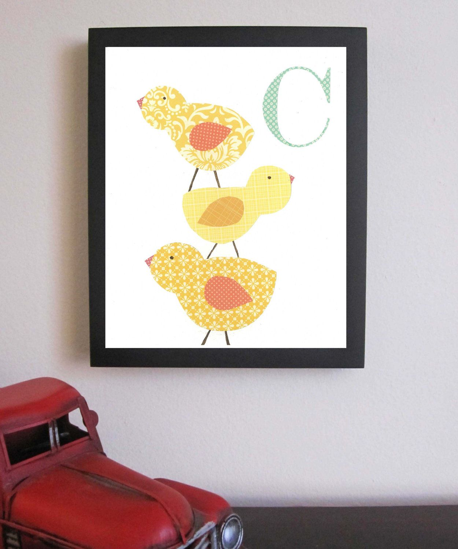 Alphabet Nursery Art, 11 x 14, Children Decor, Nursery Wall Art ...