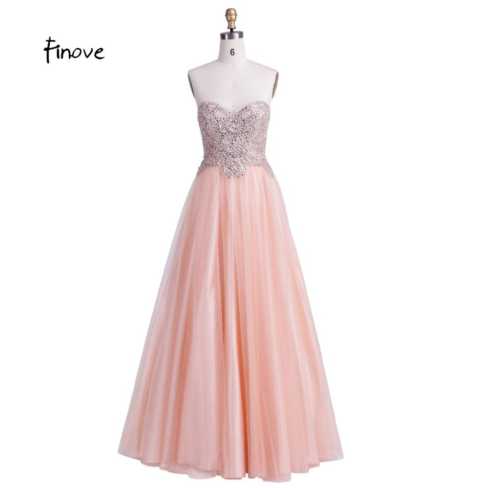 Finove A-Line Prom Dresses New Sexy with Sweetheart Crystal Beading ...