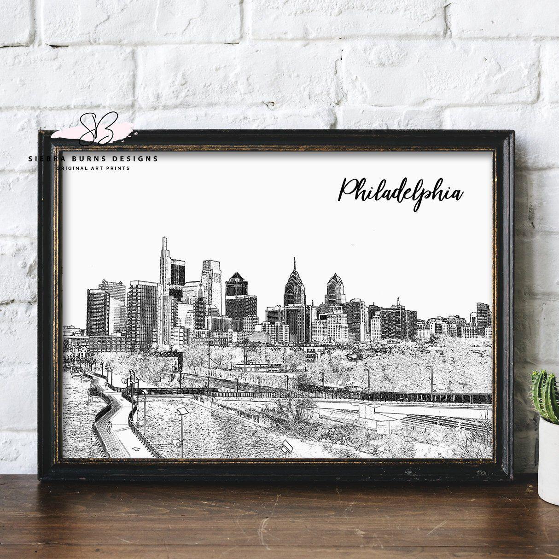 Philadelphia art philadelphia skyline art philadelphia