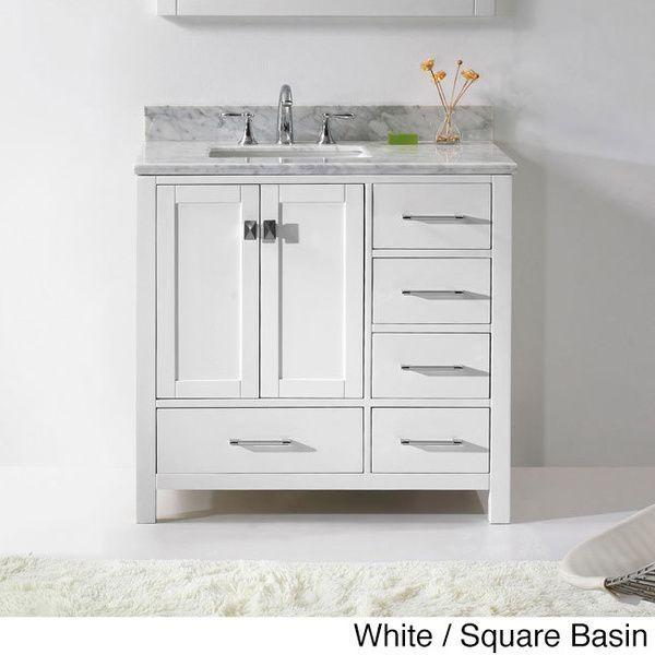 Virtu Usa Caroline Avenue 36 Inch Single Sink Bathroom Vanity Set