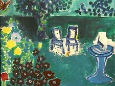 BACKYARD GARDEN SPACE Outsider RAW Folk Art Brut T-MARIE NOLAN Painting NAIVE
