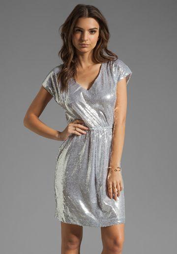 BB DAKOTA Luca Sequin Sheath Dress in Silver at Revolve Clothing