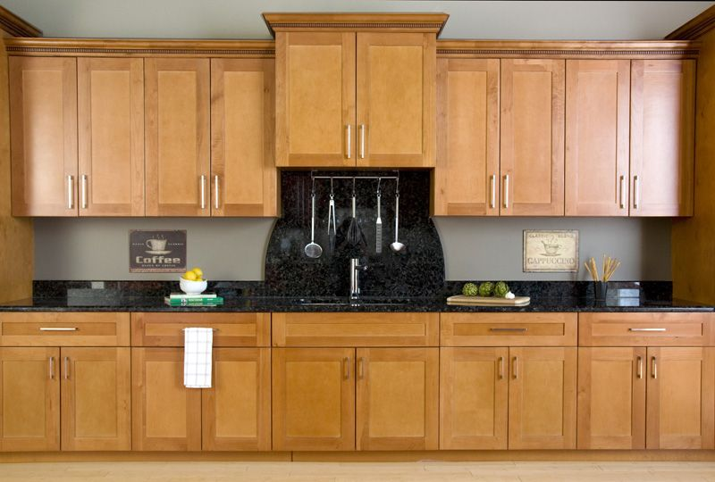 This is a good example of a stain grade (maple) cabinet with \