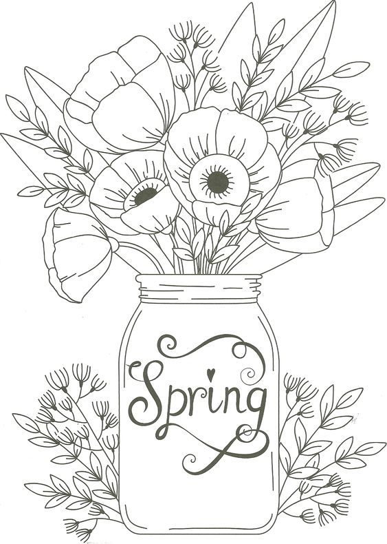 Spring Flowers Coloring Pages Printables - Earning and Saving with ... | 790x563