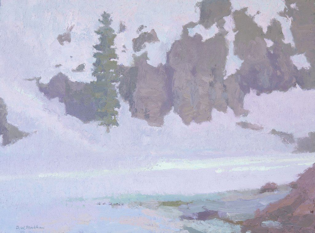 """Daniel W. Pinkham: Voice of Many Waters Oil on canvas panel • 12"""" x 16"""""""