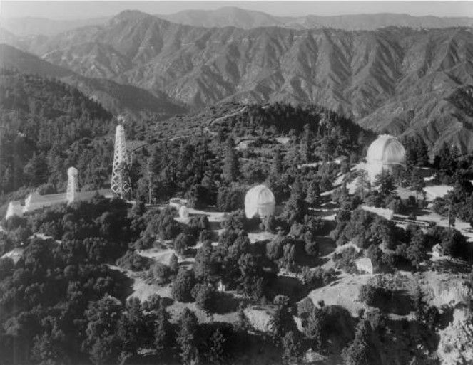 1932 Aerial View Of Mount Wilson Observatory From The Southeast Located In The San Gabriel Mountains Near Pasadena Aerial View San Gabriel Mountains Aerial